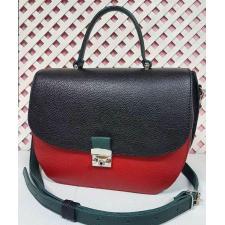 Уникальная сумочка для женщин из натуральной кожи с черным клапаном