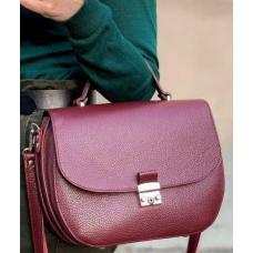 Вишневая сумочка для женщин из натуральной кожи