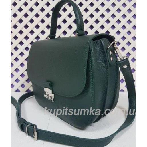 Уникальная сумочка для женщин из зеленой натуральной кожи