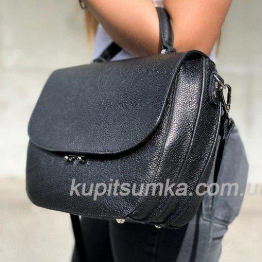 Уникальная черная сумочка для женщин из натуральной кожи