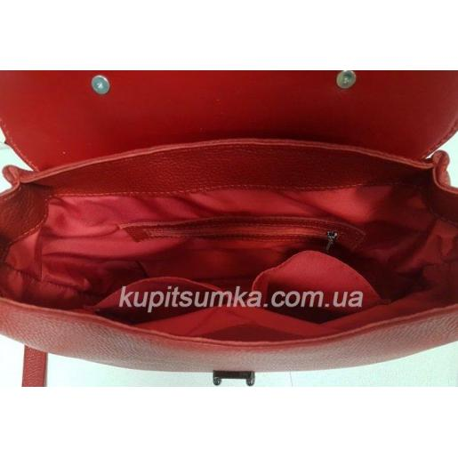 Уникальная сумочка для женщин из натуральной красной кожи