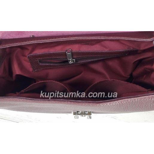 Женская сумка из натуральной кожи MARCO 77-1 Бордовый