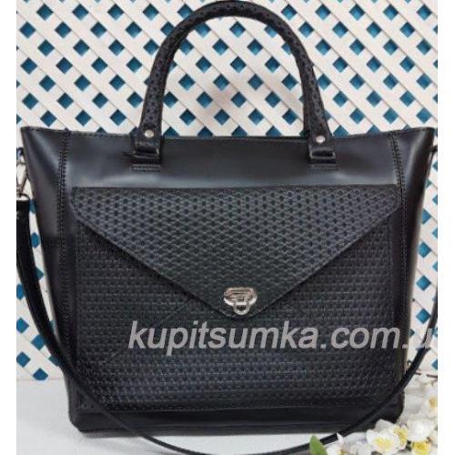 Женская кожаная сумка Mirella VON-3A-9 черная