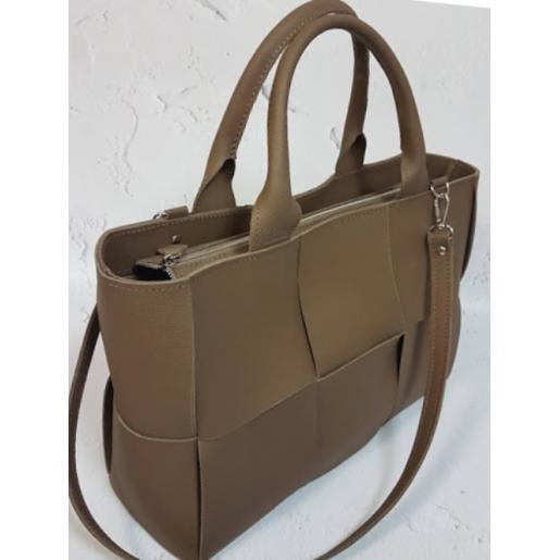 Кожаная женская сумка Marcela E15A-4 Бежевый
