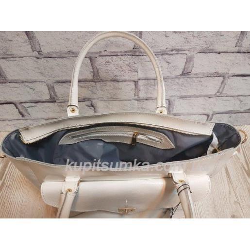 Женская сумка Mirella из натуральной кожи Белая