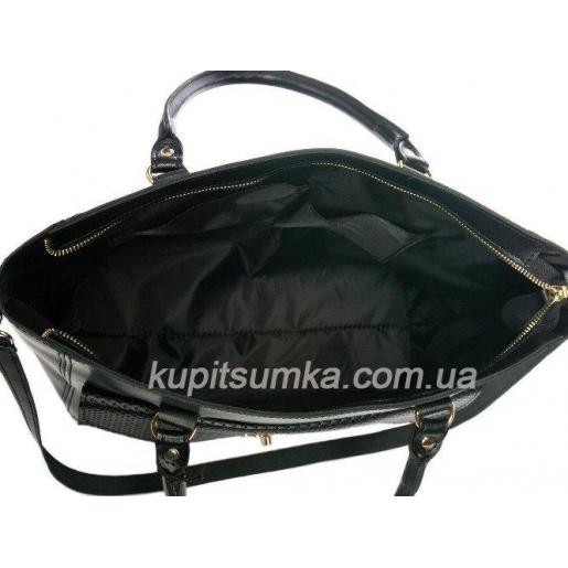 Женская сумка Mirella из натуральной кожи VON-1A Черный