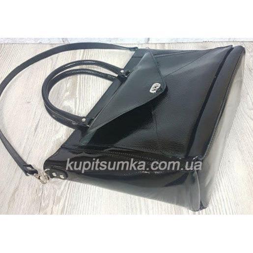 Женская сумка Mirella из натуральной гладкой кожи Чёрная