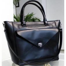 Женская сумка Mirella из натуральной кожи VON-1A Чёрный