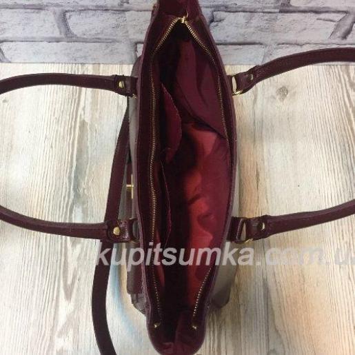 Женская сумка Mirella из натуральной кожи Марсала