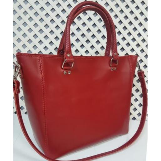 Элегантная кожаная сумка Mirella красного цвета
