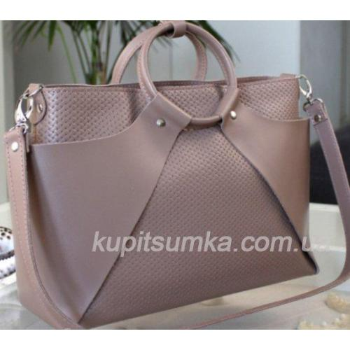 Женская кожаная сумка Marco RON15A-6 Кофейный