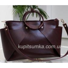 Женская сумка из натуральной кожи POH15A-1 Марсала