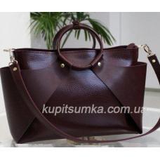 Стильная женская сумка из натуральной кожи Марсала