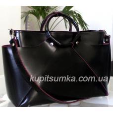 Женская кожаная сумка Marco RON15A-3 Черный