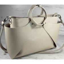 Кожаная женская сумка POH15A Бежевый