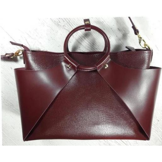 Женская сумка из кожи РОН15А Бордовый