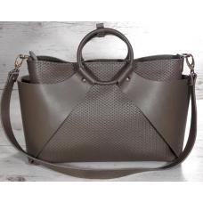 Женская сумка из натуральной кожи кофейного цвета