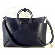 Женская кожаная сумка Marco RON15A-2 Синий