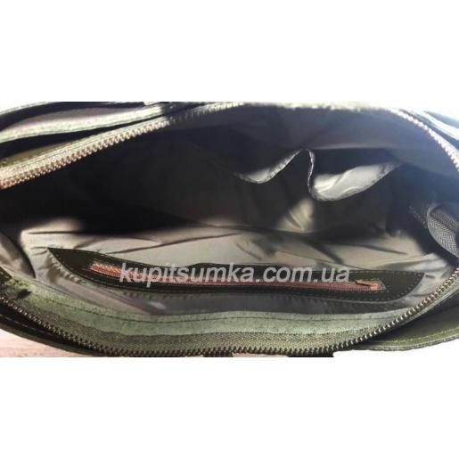 Женская кожаная сумка зеленая POH15A