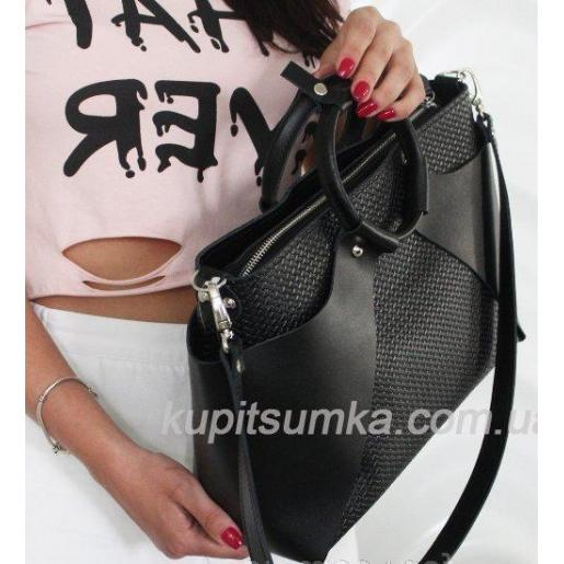 Великолепная женская сумка из натуральной кожи Белая