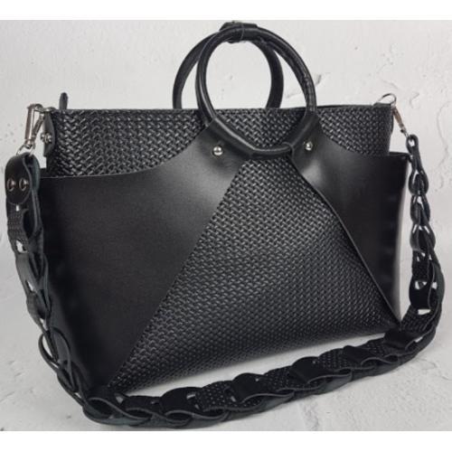 Женская сумка из натуральной кожи РОН15А-52 Черный