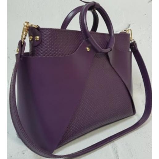 Женская кожаная сумка Marco RON15A-1 Сиреневый