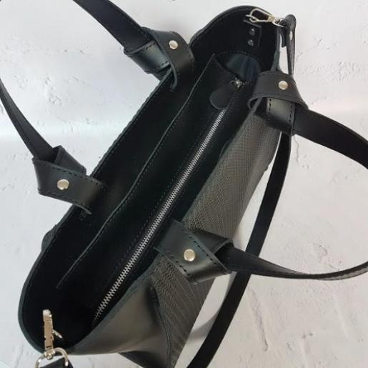 Кожаная женская сумка Prague PEK20-2 Черный