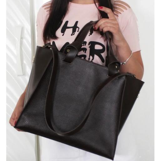Женская кожаная сумка Prague PEK20-3 Коричневый