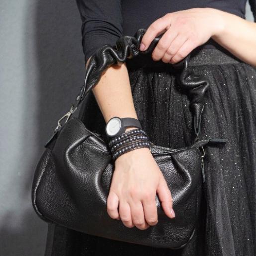 Женская кожаная сумка Paola EK-98-9-5 Черный
