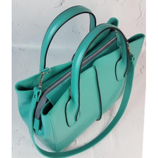 Женская сумка из натуральной кожи 26A-25 Бирюзовый