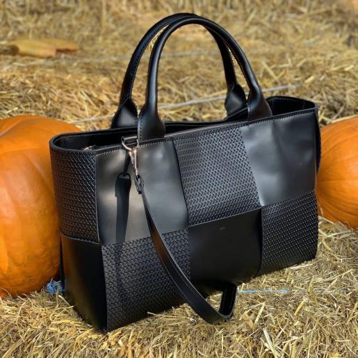 Женская кожаная сумка Marcela E15A Черный