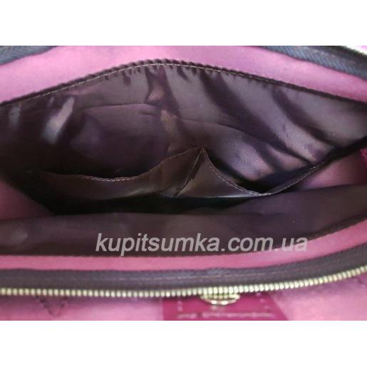 Кожаная женская сумка сиреневая Shopper KE11A-6