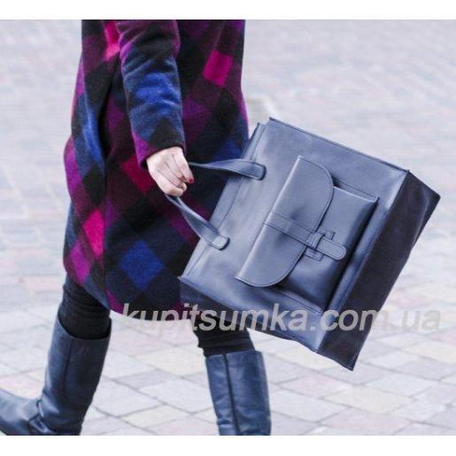 Сумка кожаная женская Shopper KE11A-8 black