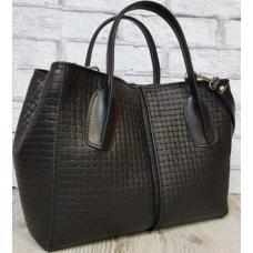 Женская кожаная сумка черная ETERNO 34EK26A