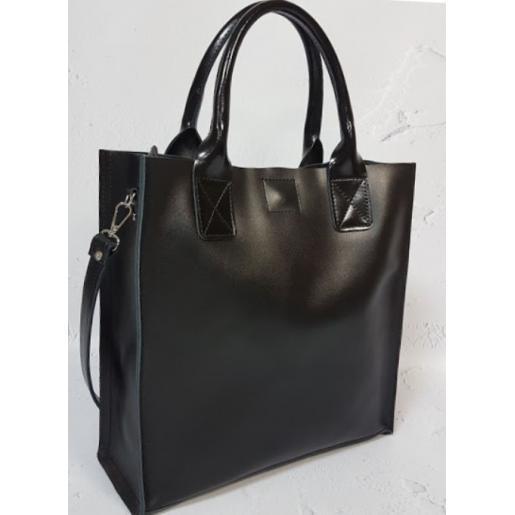 Женская кожаная сумка KE11A2 Черный