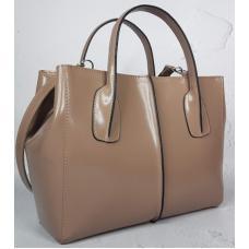 Женская кожаная сумка 26A-12 Бежевый