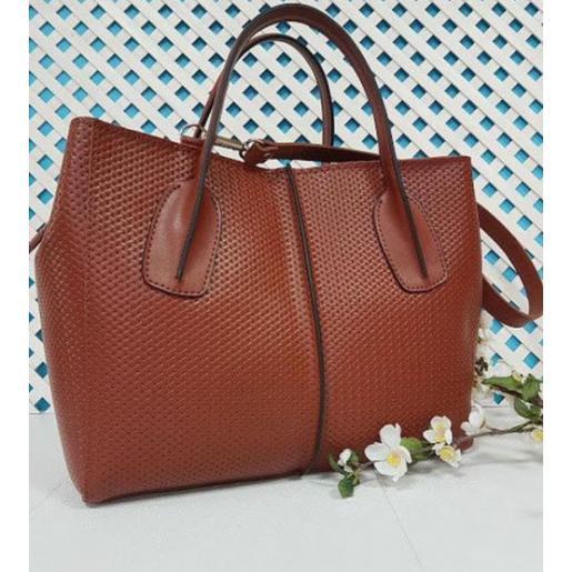 Кожаная женская сумка ETERNO EK26-A-3 Рыжий
