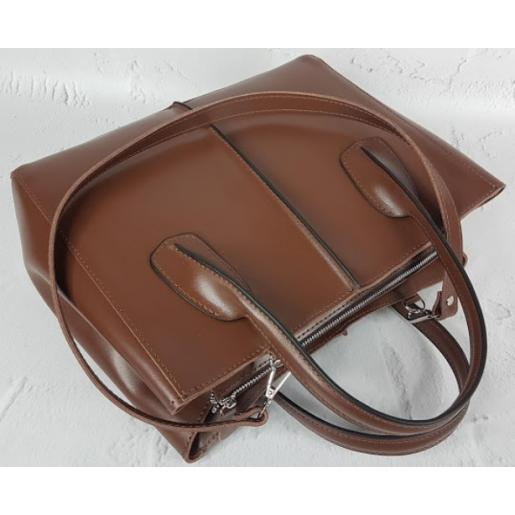 Кожаная женская сумка ETERNO EK26-A-7 Коричневый