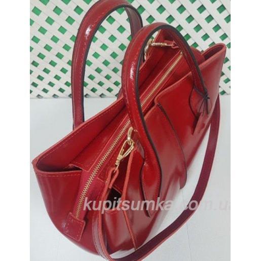 Женская кожаная сумка ETERNO EK26A76 Красный