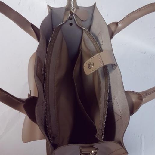 Женская кожаная сумка KE11A-1 Бежевый