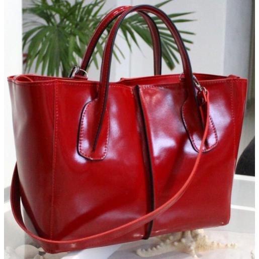 Женская сумка из натуральной кожи AK26-1 Красный
