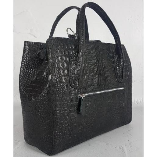 Женская кожаная сумка KROKO Marko EK-27-A Черный