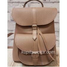 Женский рюкзак из натуральной матовой кожи в стиле Casual цвет кофейный