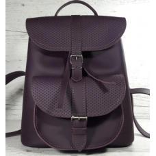 Кожаный женский рюкзак Bavarly 21A-5 Purple