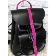 Кожаный женский рюкзак Bavarly 21A-31 Black