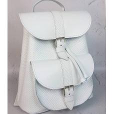 Кожаный женский рюкзак Bavarly 21A-25 white