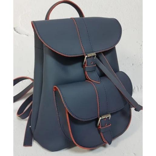 Женский кожаный рюкзак Bavarly 21A-3 синий