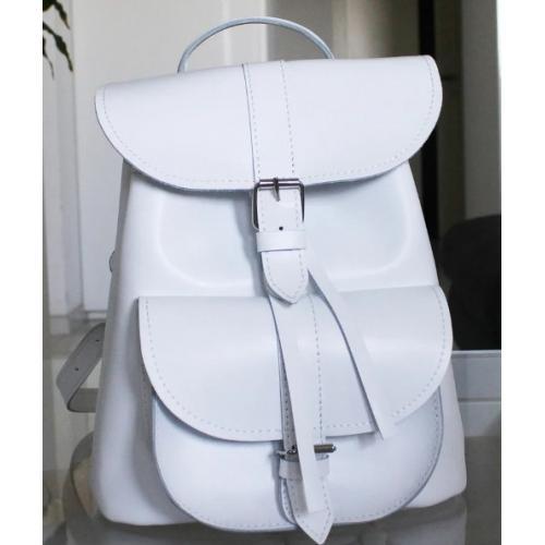 Женский кожаный рюкзак Bavarly 21A-12 белый