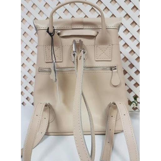 Женский кожаный рюкзак Bavarly 21A-34 бежевый