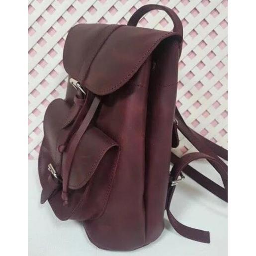 Кожаный женский рюкзак Bavarly 21A-1 бордовый